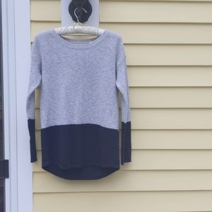 FAT FACE Blue and Gray Sweater